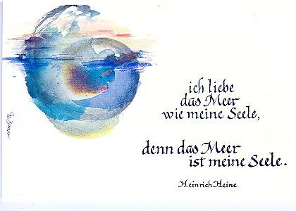 Das Meer ist meine Seele Heinrich Heine