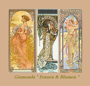 Gismonda Frauen & Blumen v A.Mucha